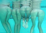 Beautiful girls swimming nude under water and diving - amateur porn photos