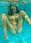 Hot and horny amateur girlfriends and wives swimming nude underwater during vacation days
