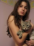 Hot pussy with pussy playing with her pierced pussy down there :) Nice girl loves cats and loves to finger her wishing sex vagina